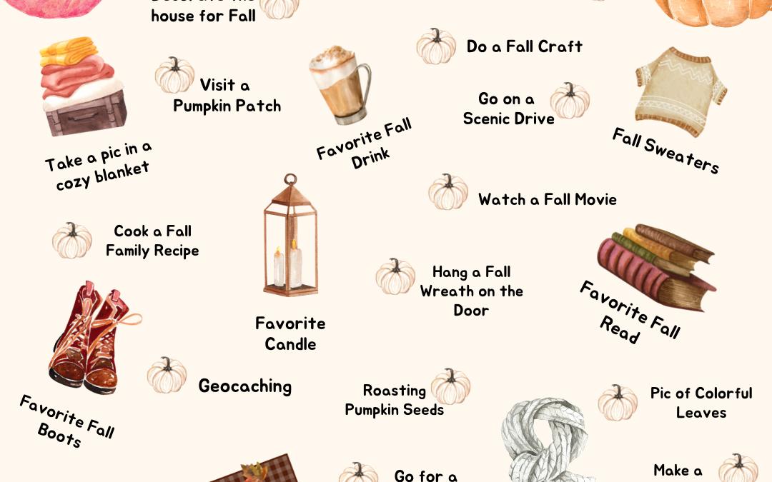 Fall Photo Bucket List